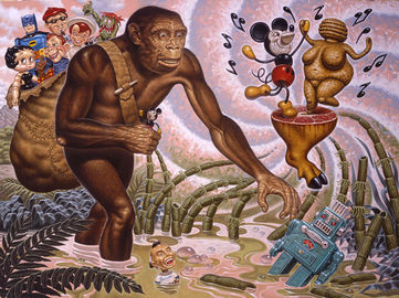 """The Hunter Gatherer"" Copyright Todd Schorr"