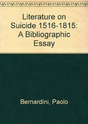 Literature on Suicide 1516-1815